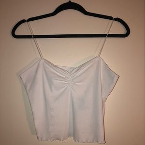 White tank crop top